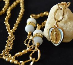 Religious Catholic Jewelry Blessed Mother by FifteenMagpieLane