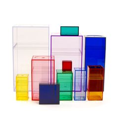 acrylic box set fun for kids room to hold art supplies, hair stuff, etc. love the colors! (32) Fab.com | AMAC Classic Color Set