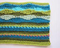 de punto y crochet diseño: Lily Pond CAL - rayas y ondas