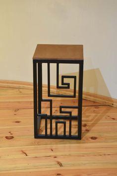 Stool, wooden, iron, labi, labyrinth, Kraina ES  #stool, #minimalism, #table, #industrial, #designstyle, minimal stool, #krainaes, #handcraft, #craft, #taboret, #stołek, #krzesełko, #krzesło, #minimalizm, #minimal, #ręczniewykonany