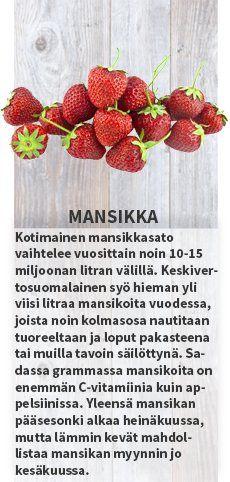 Mansikka  - Sesonkikasvikset kesäkuu #sesonkikasvikset #satokausikalenteri #kauppahalli24 #herne #varhaisperuna #kirsikkatomaatti #kirsikka #aprikoosi #mansikka