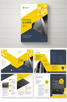 Yellow fashion atmospheric business style corporate brochure#pikbest#templates Graphic Design Brochure, Brochure Layout, Corporate Brochure, Corporate Design, Brochure Template, Flyer Template, Page Layout Design, Magazine Layout Design, Magazine Layouts
