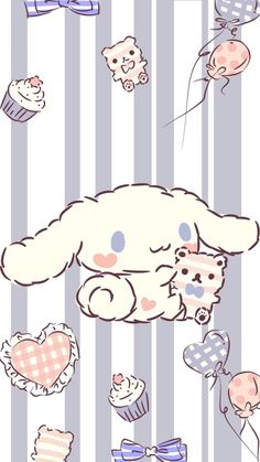 Pink Wallpaper Anime, Hello Kitty Iphone Wallpaper, Sanrio Wallpaper, Cute Pastel Wallpaper, Trendy Wallpaper, Kawaii Wallpaper, Wallpaper Iphone Cute, Really Cool Drawings, Cute Drawings