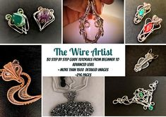 30 Tutorials The Wire Artist PDF book,wrap,weave,wire wrapped weaved jewelry,copper pendant,bracelet,earring,ring,wrapping weaving pattern
