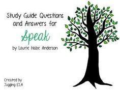 This is an extensive 19 page packet that includes study guide questions and answers for the entire novel Speak by Laurie Halse Anderson. The study guide questions are in MS Word and they are fully editable. Please download the preview. If you have any questions feel free to ask.