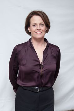 Sigourney Weaver at Chappie Press Conference photographed by Herve Tropea February 2015.