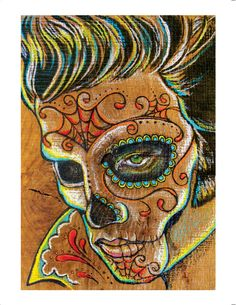 Elvis Day of the Dead Limited Edition 8.5 x 11 by PointBlankDesign, $12.00