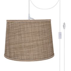 Produce an excellent style to your home with Aspen Creative Corporation 1-Light White Plug-in Swag Pendant with Brown Tween Hardback Empire Fabric Shade. Swag Pendant Light, Swag Light, Drum Pendant, Light Bulb, Outdoor Light Fixtures, Outdoor Lighting, Fabric Shades, Lamp Shades, Home Decor Lights