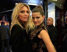 Anja Rubik and Isabeli Fontana