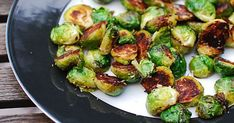 I've already shown you how to prepare one of my favorite Brussels sprouts side dishes. Here is another favorite.  Made with only a few ingredients, this side dish is easy, healthy, and so amazingly delicious.  Halved brussels sprouts are caramelized to golden-brown perfection then tossed with