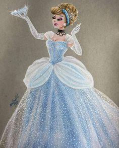 Cinderella - Disney Princess Drawings by Max Stephen