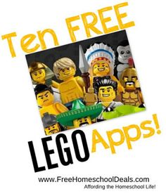 10 Free Lego Apps - from FreeHomeschoolDeals.com