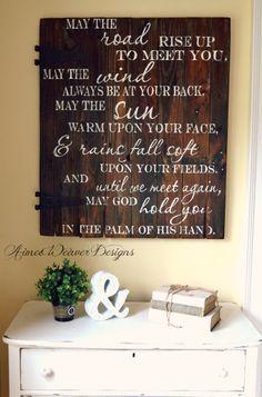 Irish Blessing sign - Aimee Weaver Designs