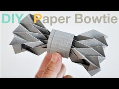 How to make a Paper Bowtie (DIY Tutorial)