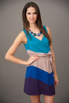 Strolling Through Sunday Dress - Blue | Red Dress Boutique