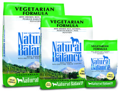 Vegetarian Dry Dog Formula. Dick Van Patten's Natural Balance® Vegetarian Dry Formula provides adult dogs with the same essential nutrients found in diets containing meat. We do not use any animal or dairy products in this formula.Complete and balanced nutrition for adult dogs.