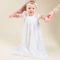 9f9661b0b 2016 Manual Baptism Gown Baby Infant Floor Length 0 24 Month Christening  Dress Lace White/Ivory With Headband-in Dresses from Mother & Kids on ...