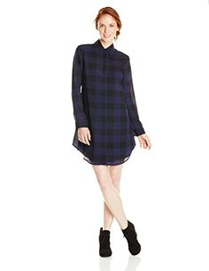 BB Dakota Womens Keenan Plaid Dress with Slip Ink Small * Check out this great product.