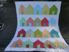 Colorful baby quilt by Lovedquilts on Etsy, $45.00