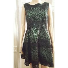 French Connection Fast Croc Flock Dress, NWT Woven dress * Sequin embellishment throughout * Crewneck * Fitted bodice * A-line hem * Tonal top stitching and panel seaming * Exposed back zipper closure French Connection Dresses Mini