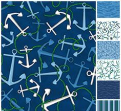 Nautical fabric at Quilting Possibilities in Forked River, NJ.