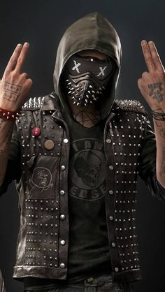 This wallpaper has tags of Wrench, Watch Dogs Video Game, Mask, Hacker Wallpaper, Dog Wallpaper, Mobile Wallpaper, Skull Wallpaper, 1080p Wallpaper, Wrench Watch Dogs 2, Watch Dogs 1, Cover Design, Game Wallpaper Iphone