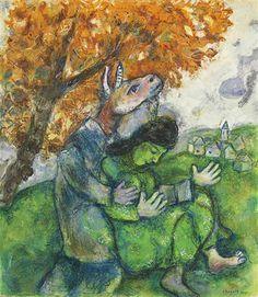 #Marc-Chagall #MarcChagall #Chagall Marc Chagall ~ La Femme et la Bete, 1938