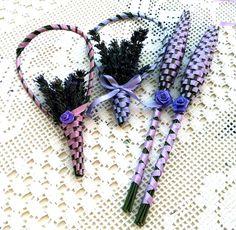 Levendula buzogány More Lavender Wands, Lavender Crafts, Lavender Sachets, Lavender Flowers, Lavender Ideas, Growing Lavender, Craft Tutorials, Craft Ideas, Romantic Weddings