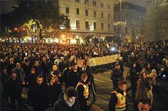 Tüntetés az internetadó ellen