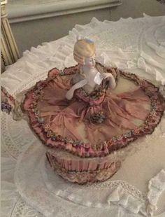 Half Dolls, Pin Cushions, Boudoir, Pretty, Powder Room, Side Table Styling