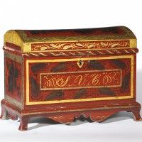 paint decorated small chest .love this from Olde Hope Antiques