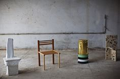 Max Lamb's exhibition of chairs at Milan Design Week - Vogue Living