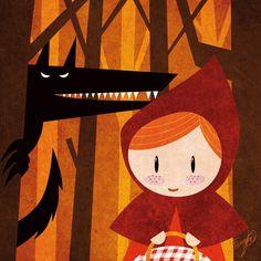 Lámina Cuentos  Caperucita Roja por DavidGFerrero en Etsy