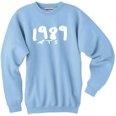 Women's 1989 Seagull Sweatshirt T S Light Blue Pullover Jumper Taylor ($30) ❤ liked on Polyvore featuring tops, hoodies, sweatshirts, black, t-shirts, women's clothing, sweater pullover, black pullover, black sweatshirt and black pullover sweatshirt