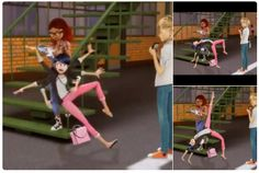 Marinette and her graceful clumsiness~ (Miraculous Ladybug) XD Adrien's face
