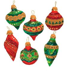Bucilla Glitzy Ornaments 6 piece Felt Christmas Ornament Kit #86725. This kit was purchased direct from the manufacturer. The only way to get a kit in newer condition is to pick it up in person from the factory. New for Spring 2017 If you like lots of Bling at Christmas Time and have the patience to attach all the sequins in these designs you will love this new Glitzy Ornaments kit from Bucilla. This is the first kit since the Jeweled Ornaments kit that was released in 2013 to have this…
