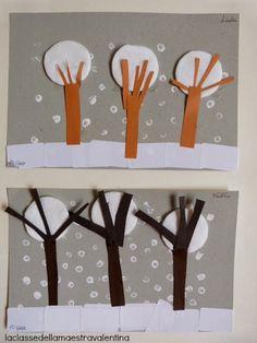 Care creative, oggi vi voglio mostrare come si possono realizzare dei collages invernali utilizzando del materiale che possiamo trovare i...