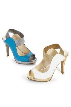 4ea3ee85d05 Elastic Strap Platform Sandal