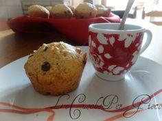 Muffin integrali con gocce di cioccolata!| ricetta senza burro