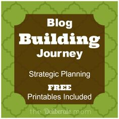 Strategic Planning on your blog