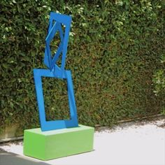 """Closer"" is a brightly colored, limited-edition outdoor sculpture that is sure to add color and vibrancy to any garden! Abstract Sculpture, Sculpture Art, Garden Sculpture, Outdoor Sculpture, Outdoor Art, Landscape Design, Garden Design, Modern Art, Modern Design"