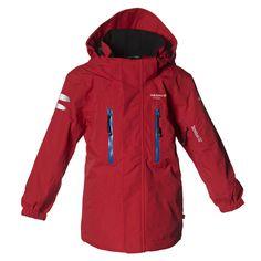 Isbjörn of Sweden Climber Hard Shell Jacket 2L Bionic Finish eco®,  bluesign® Happy Red  Eine geniale Ganzjahresjacke, ideal auch zum Skifahren Mit heraustrennbarem Schneefang , Skipass-Tasche...  #isbjorn #alpenkind