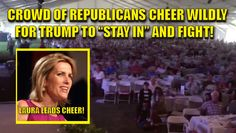 """Hey, GOP – take a look at this, you crapweasles. Thousands of REPUBLICANS CHEER and STAND WITH TRUMP! WE THE PEOPLE WANT TRUMP! Laura Ingraham lead a MASSIVE CHEER in Bakersfield, California for Donald Trump. She told the crowd, """"Cheer if you want Trump to step down."""" Dead quiet. She then said, """"Cheer if you want Trump to keep fighting for the American people"""" Crowd goes WILD. Watch the video and SHARE and RETWEET! Amy Moreno is a Published Author , Pug Lover & Game of Thrones Nerd. You…"""