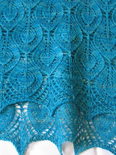 Free Shawl/Scarf Knitting Pattern: Spring Leaves by Katrin Vorbeck