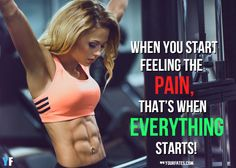 Here are 41 motivational fitness quotes for women: Fitness Quotes for Women: Today, fitness has been an ongoing trend, especially to Americans. Fitness Quotes Women, Fitness Motivation Quotes, Fitness Goals, Health Fitness, Workout Motivation, Killer Workouts, Gym Workouts, Workout List, Muscle Quotes