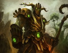 Druid by thiago-almeida warforged golem dryad staff | NOT OUR ART - Please click artwork for source | WRITING INSPIRATION for Dungeons and Dragons DND Pathfinder PFRPG Warhammer 40k Star Wars Shadowrun Call of Cthulhu and other d20 roleplaying fantasy science fiction scifi horror location equipment monster character game design | Create your own RPG Books w/ www.rpgbard.com