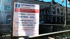 Metro de Madrid reabre la estación de Sol de la línea 2 mañana lunes 13 de mayo.. Mayo, Event Ticket, Madrid, Sun, Parking Lot, News