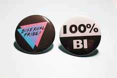 These buttons are remakes of old vintage bisexual pride buttons. of proceeds will be donated to the Canadian Lesbian and Gay Archives (CGLA), the largest independent LGBTQ+ archives in the world, The International Anti-Fascist Defense Fund and/or the Lgbt, Bisexual Pride, Gay Pride, Silly Jokes, Pin And Patches, Pin Badges, Swagg, We Heart It, Fun Facts