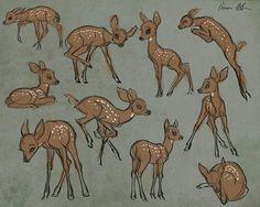 Sketching young deer today. #deer #fawn #drawing #sketch