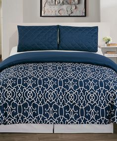Love this Navy Blue Kit Duvet Set by Duck River Textile on #zulily! #zulilyfinds